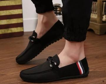 black colour loafer